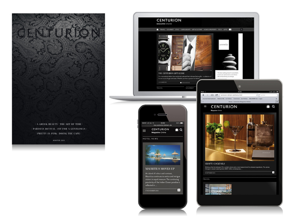 A new digital area for American Express' most upscale magazines